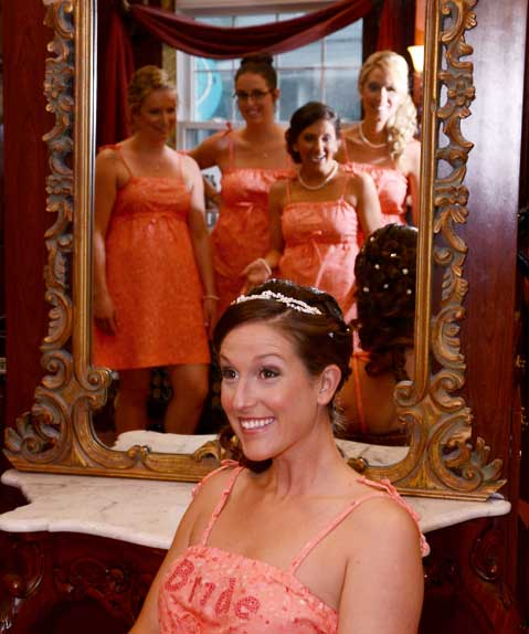 Seven dresses, one bride.